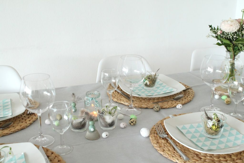 Ostertisch Ideen DIY Ostern Tisch Hasen Osternester Jules kleines Freudenhaus