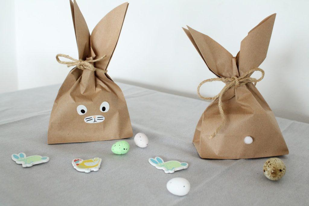DIY Osterhasen Tueten Kinder Osterueberraschung Packpapier Hasen Jules kleines Freudenhaus