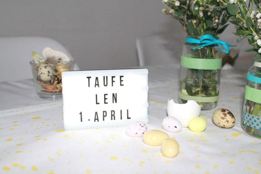 Unsere Triple Party Mit Geburtstag Und Taufe Am Ostersonntag