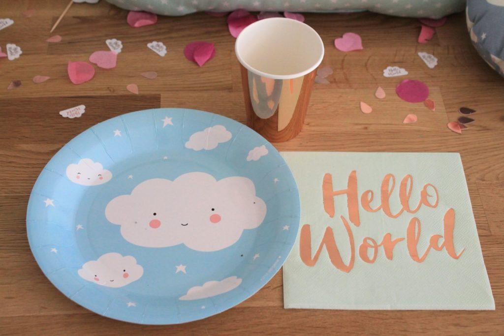 Baby Welcome Party Wolke 7 Babyshower Babyparty Dekoration Jules kleines Freudenhaus