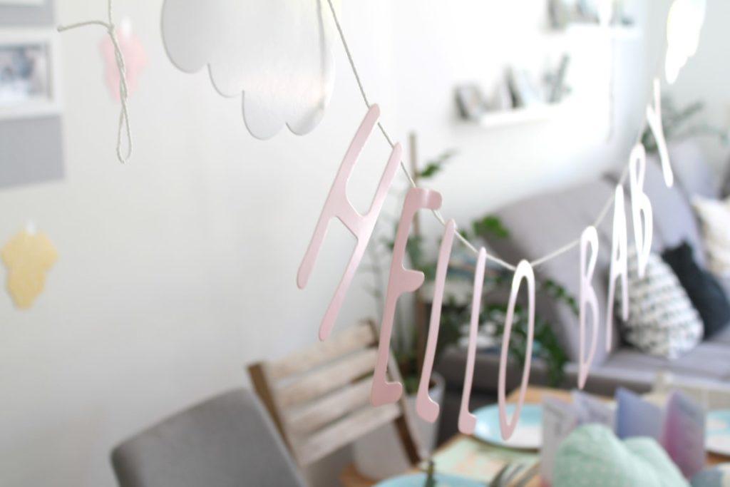Baby Welcome Party Wolke 7 Babyshower Ideen Dekoration Essen Spiele Jules kleines Freudenhaus