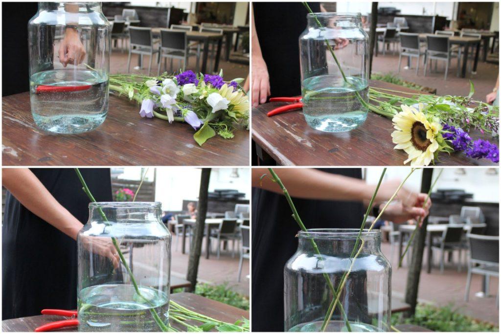 Blumen Bouquet richtig arrangieren Workshop Jules kleines Freudenhaus