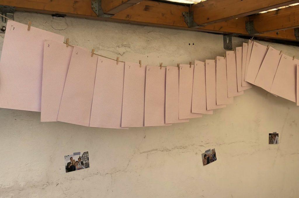 60 Briefe Erinnerungen Ideen zum 60. Geburtstag Geschenke Deko Fotos Erinnerungen Jules kleines Freudenhaus