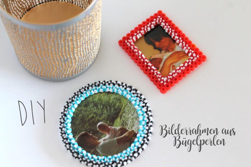 DIY Bilderrahmen Buegelperlen Hama Beads Photoholder Jules kleines Freudenhaus