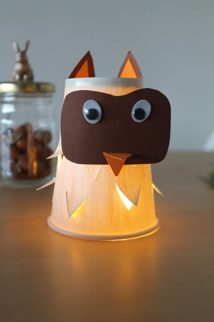 DIY Laternen Beleuchtung ohne Stab selbstleuchtende LED Birnen