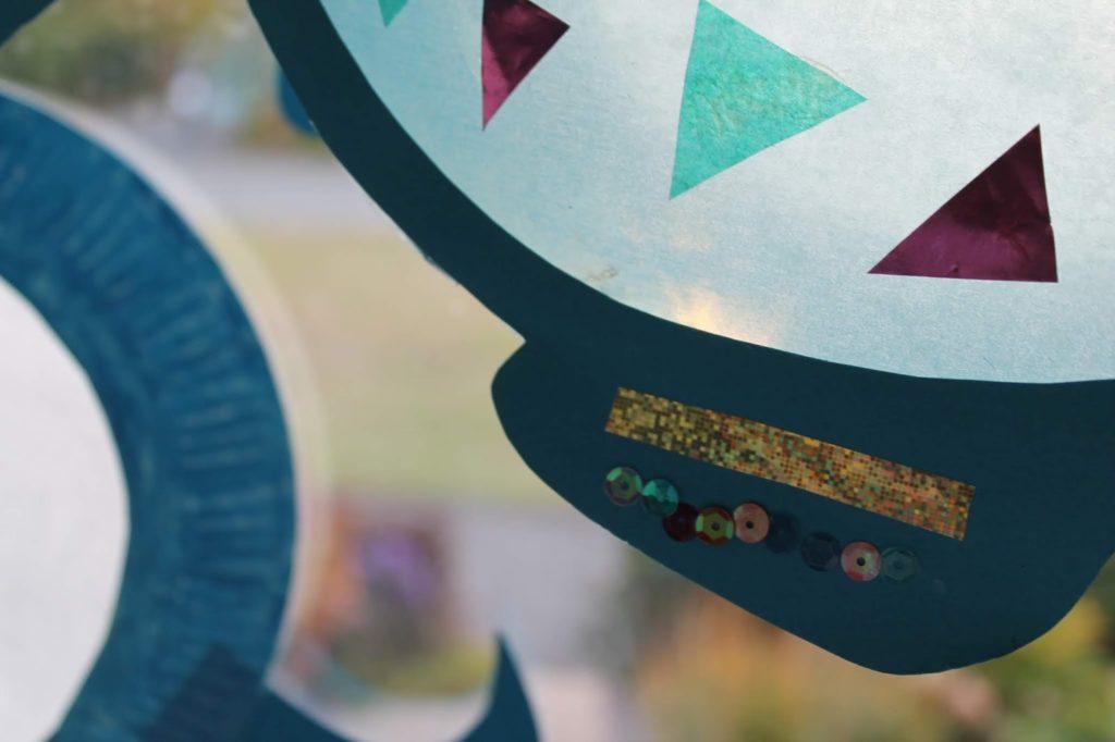 DIY Regenbogenfisch Laterne selber machen Jules kleines Freudenhaus