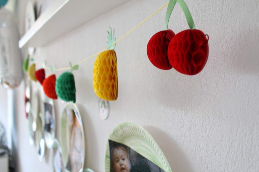 Frucht Girlande Dekoideen Raupe Nimmersatt Decorations Hungry Caterpillar Jules kleines Freudenhaus