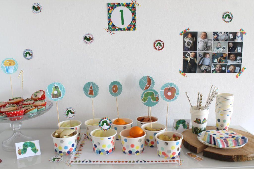 Buffet Food Raupe Nimmersatt Muffins Geburtstag Jules kleines Freudenhaus