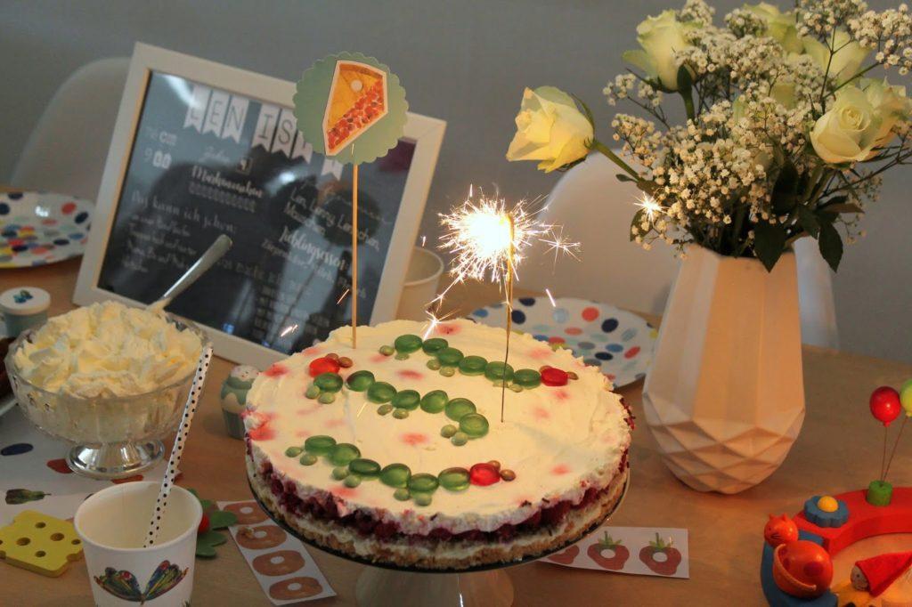 No Bake Cake Raupe Nimmersatt Geburtstag Jules kleines Freudenhaus