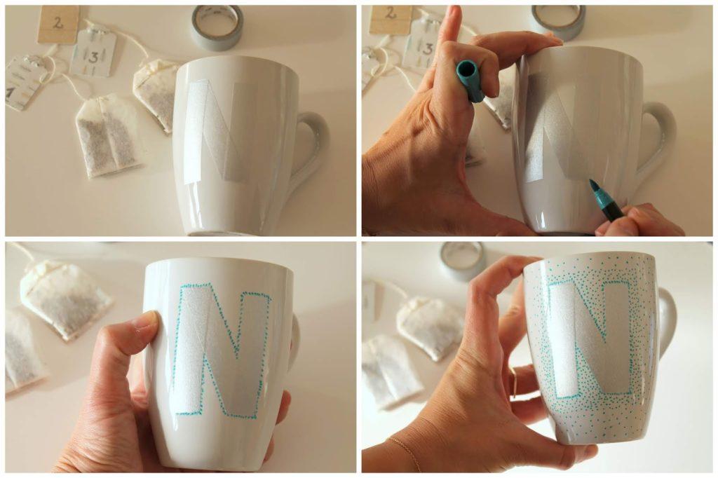 Anleitung DIY Tasse fuer Tee-Adventskalender mit Fotos aus dem Jahr Jules kleines Freudenhaus