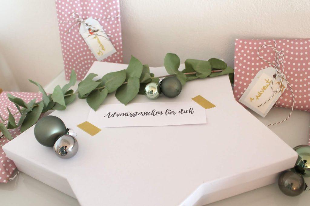 Adventssterchen Teenies Adventskalender DIY Jugendliche Jules kleines Freudenhaus