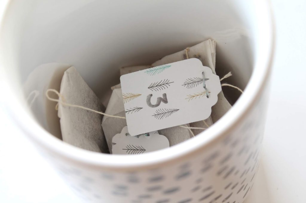 Anleitung DIY Dose Tee-Adventskalender mit Fotos aus dem Jahr Jules kleines Freudenhaus
