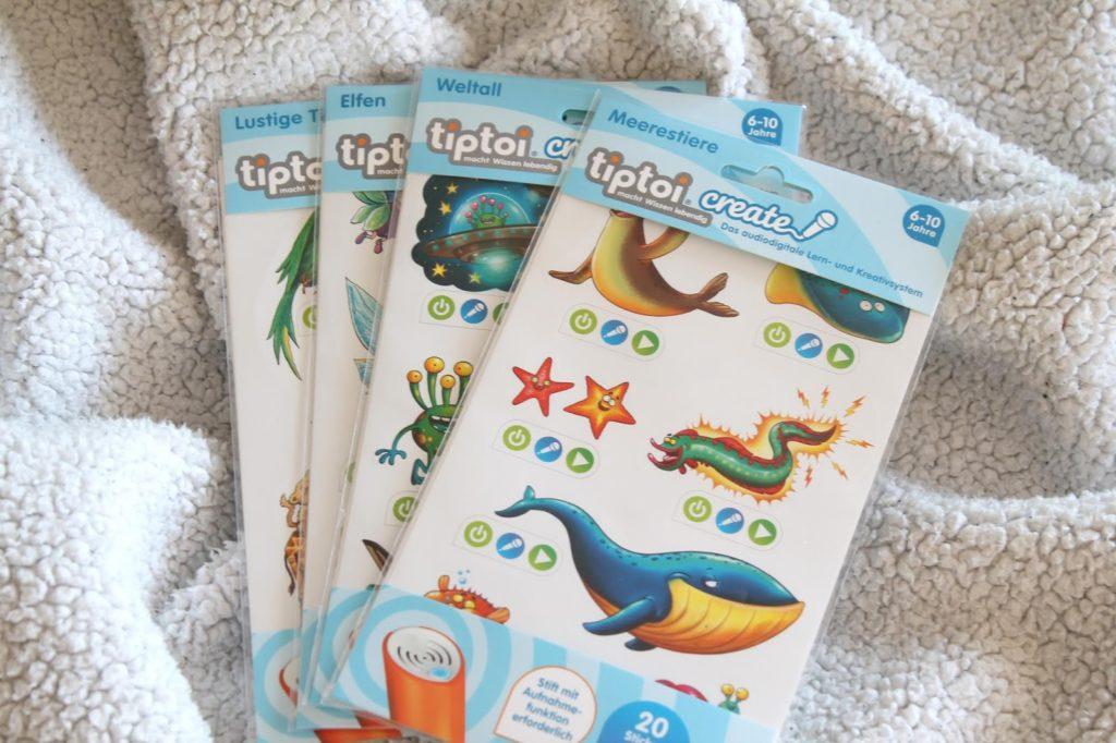 Sticker tiptoi create stift mit aufnahmefunktion weihnachtsgeschenkidee die verrueckte weltreise starterset 3