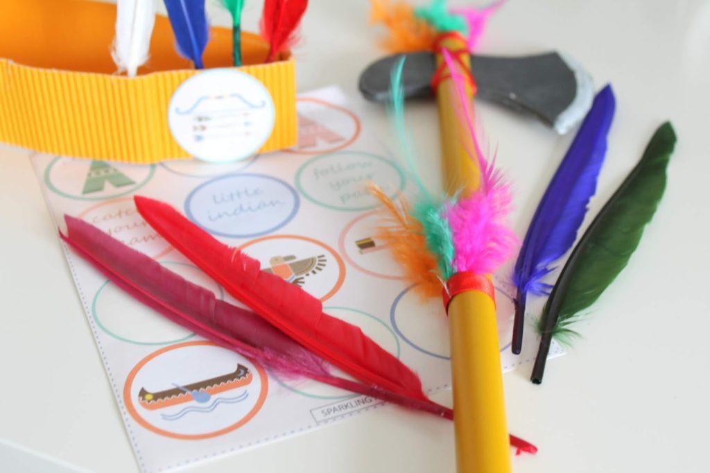 DIY Accessoires Indianer DIY Ideen Indianer Kostuem DIY Karneval Kostueme Verkleiden Kinder Indianer Jules kleines Freudenhaus