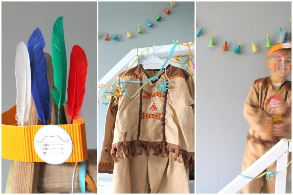 DIY Ideen Indianer Kostuem DIY Karneval Kostueme Verkleiden Kinder Indianer Jules kleines Freudenhaus