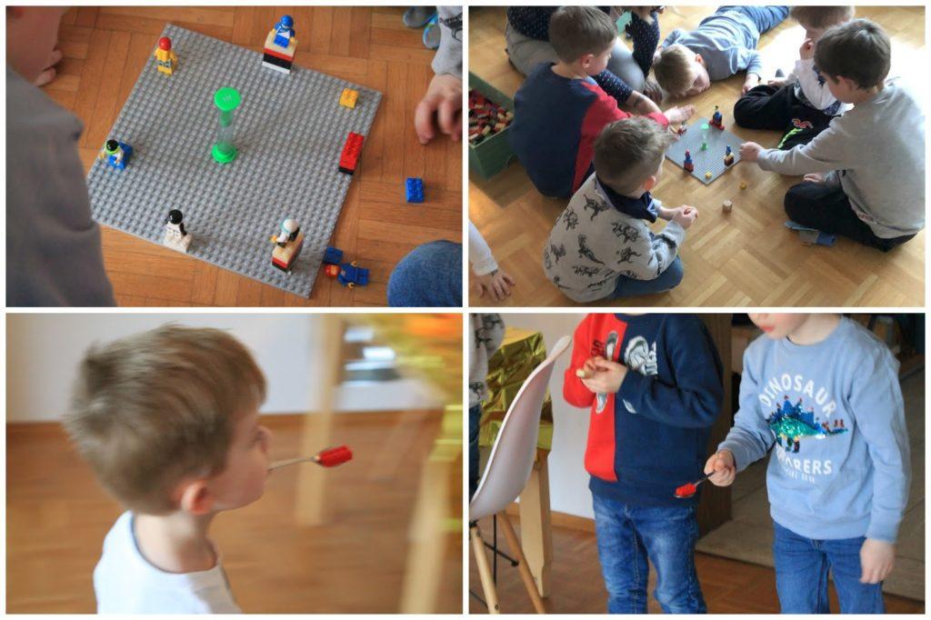 Spielidee Kindergeburtstag LEGO Astronauten wuerfeln Kindergeburtstag Deko LEGO Weltraum Party Jules kleines Freudenhaus