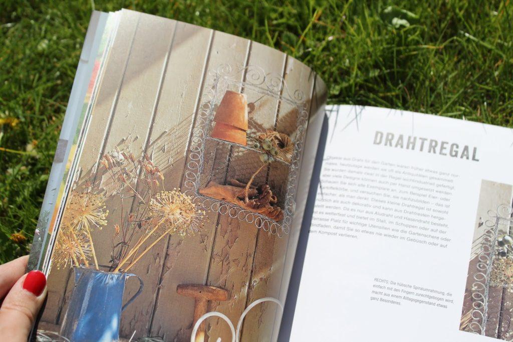 DIY Drahtregal der dekorierte Garten Buchtipp LV Buch Verlag Jules kleines Freudenhaus inkl Verlosung
