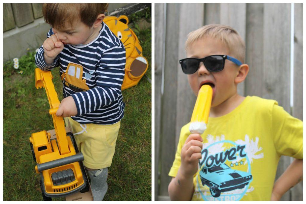 Coole Jungs Trendfarben gelb Shirts Rucksack Bagger Auswahl tausendkind fuer Jungs Jules kleines Freudenhaus