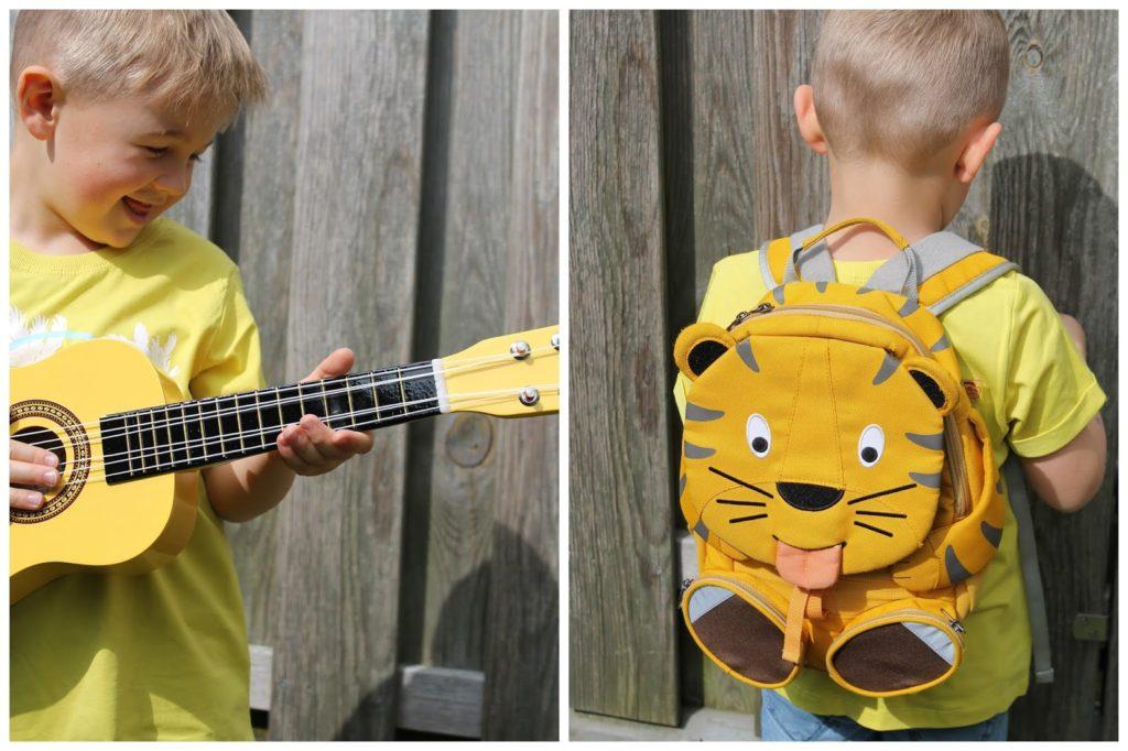 Gitarre Rucksack Trendfarben gelb Shirts Rucksack Bagger Auswahl tausendkind fuer Jungs Jules kleines Freudenhaus