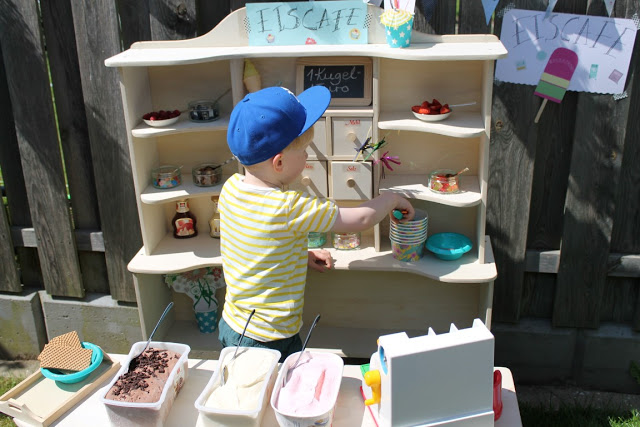 DIY Eiscafe Outdoor Aktivitaeten Sommer draussen zuhause  Jules kleines Freudenhaus