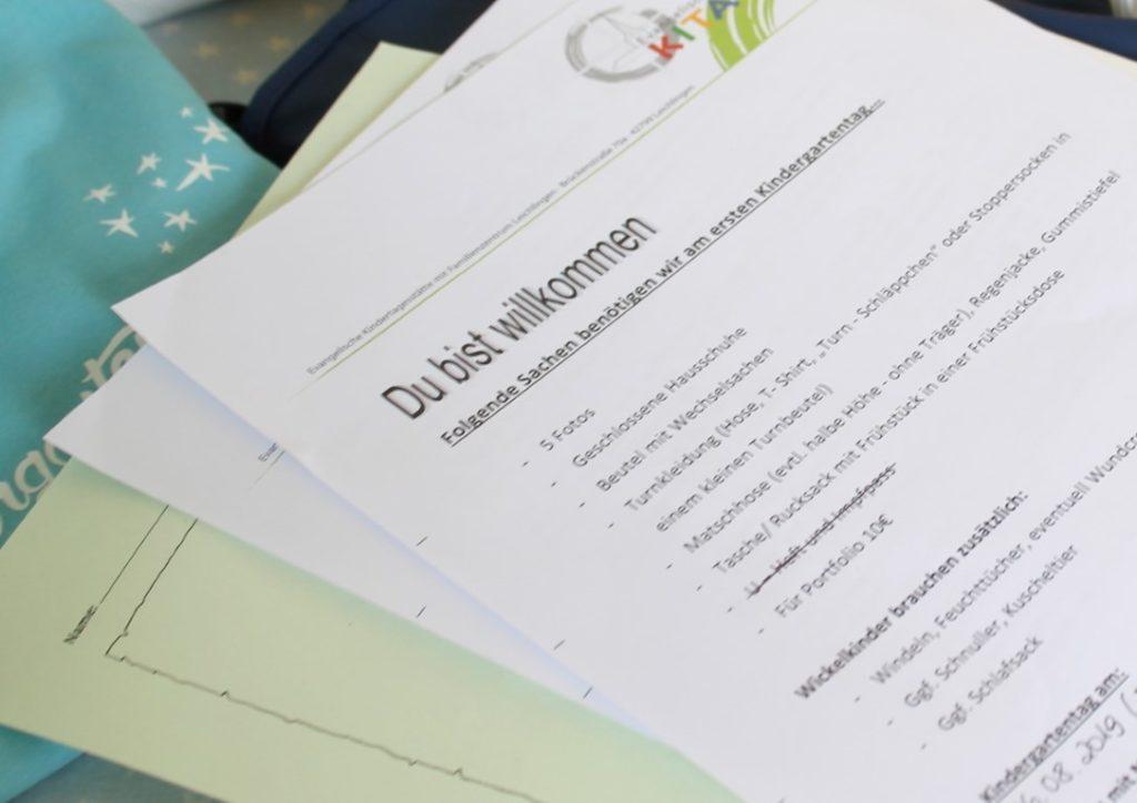 Besorgungen To Do List Dinge Hausaufgaben fuer die Kita Jules kleines Freudenhaus
