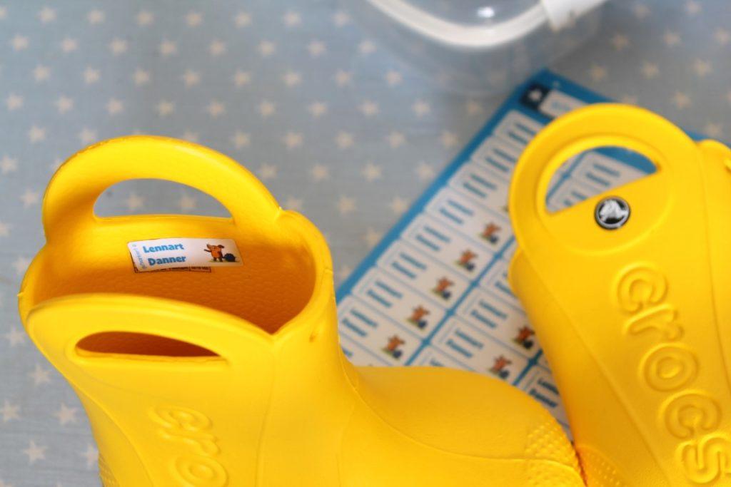 Markierung Gummistiefel Kindergarten