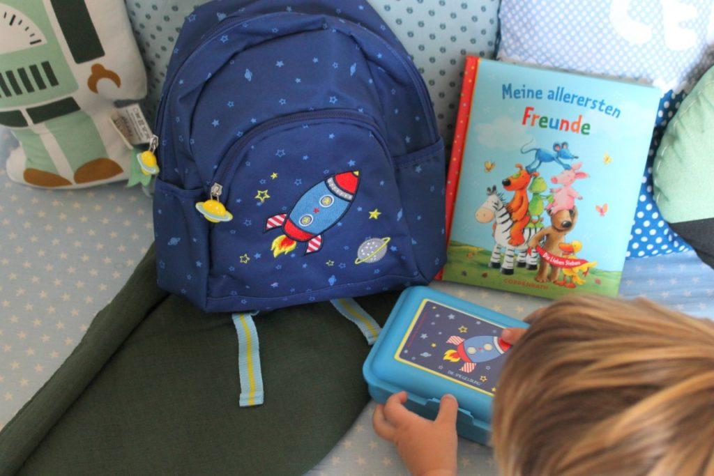 Kindergarten Rucksack Die Spiegelburg Rakete Astronaut Weltraum Jules kleines Freudenhaus