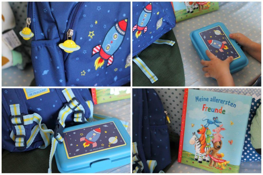 Kindergarten Rucksack Brotdose Freundebuch Die Spiegelburg Rakete Astronaut Weltraum Jules kleines Freudenhaus