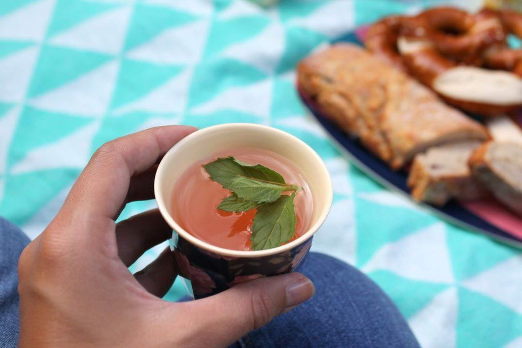 Rosen-Limo Picknickideen Sommerkueche draussen mit Kindern Jules kleines Freudenhaus