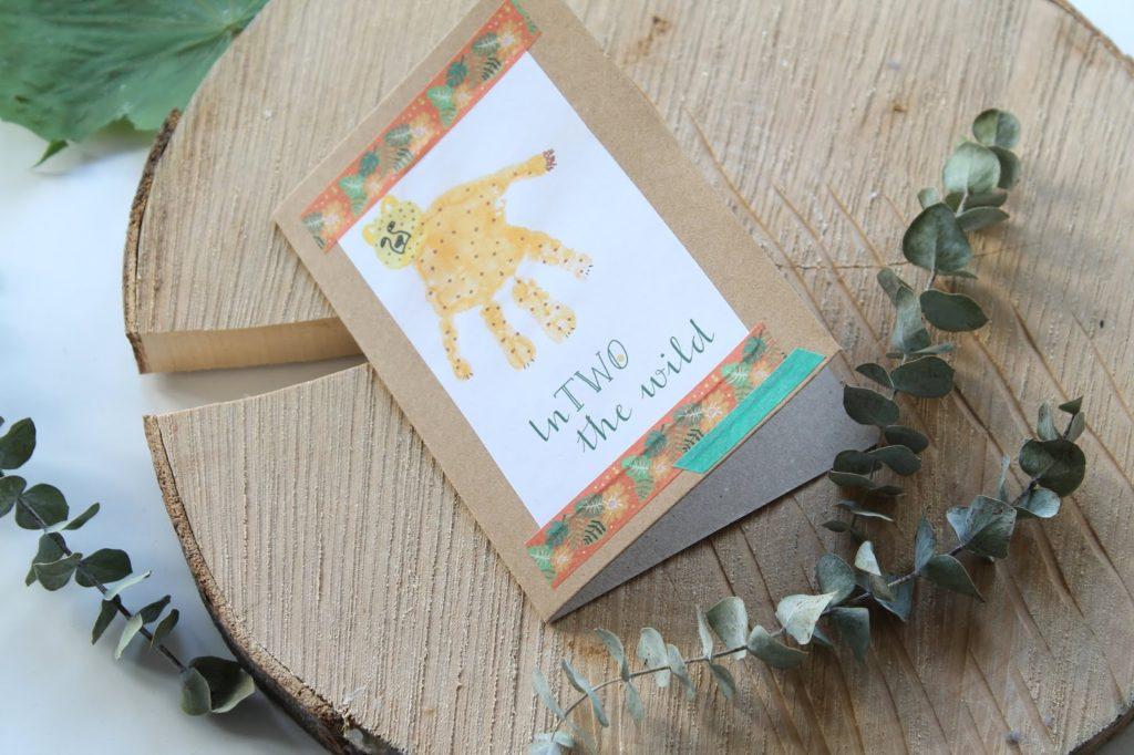 Leopard Einladung Kindergeburtstag sebstgemacht DIY EInladungskarten wilde TIere Dchungel Wald Mottogeburtstag Jules kleines Freudenhaus