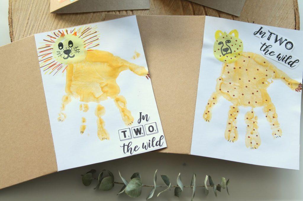Einladung Kindergeburtstag sebstgemacht DIY EInladungskarten wilde TIere Dchungel Wald Mottogeburtstag Jules kleines Freudenhaus