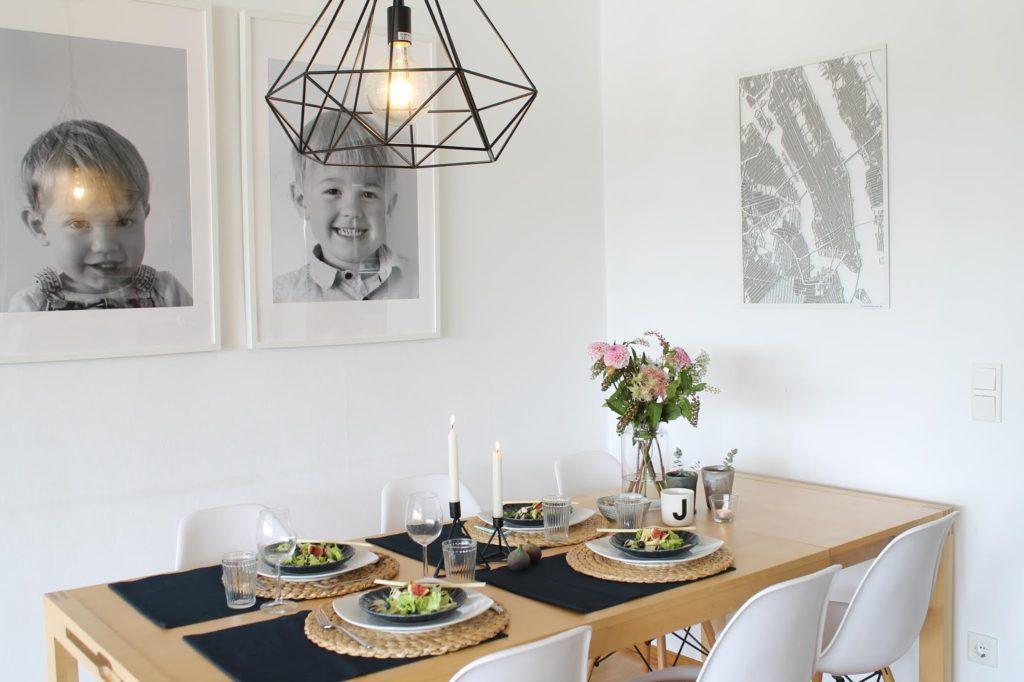 Einladendes Esszimmer Makeover Esstisch Lampen Leuchten Skandinavisches Design Jules kleines Freudenhaus