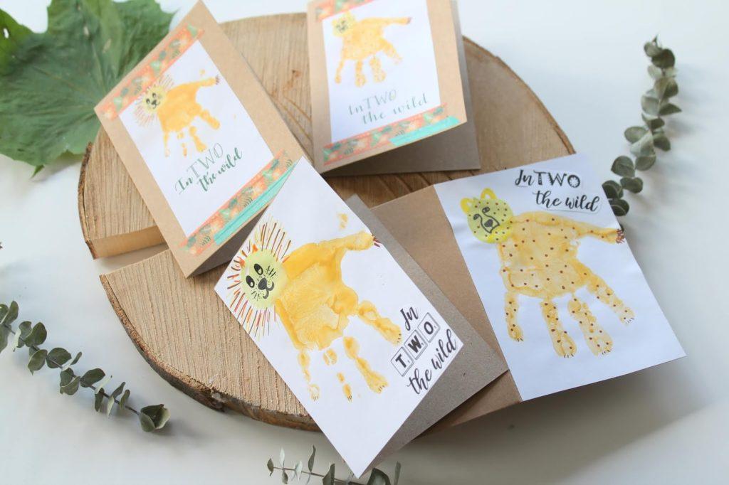 Loewe Leopard Einladung Kindergeburtstag sebstgemacht DIY EInladungskarten wilde TIere Dchungel Wald Mottogeburtstag Jules kleines Freudenhaus