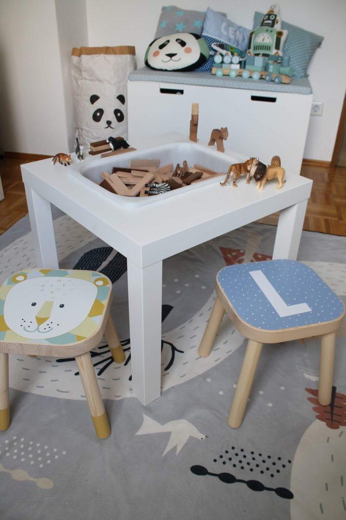 IKEA Hack Spieltisch aus TROFAST LACK Tisch selbstgemacht Jules kleines Freudenhaus