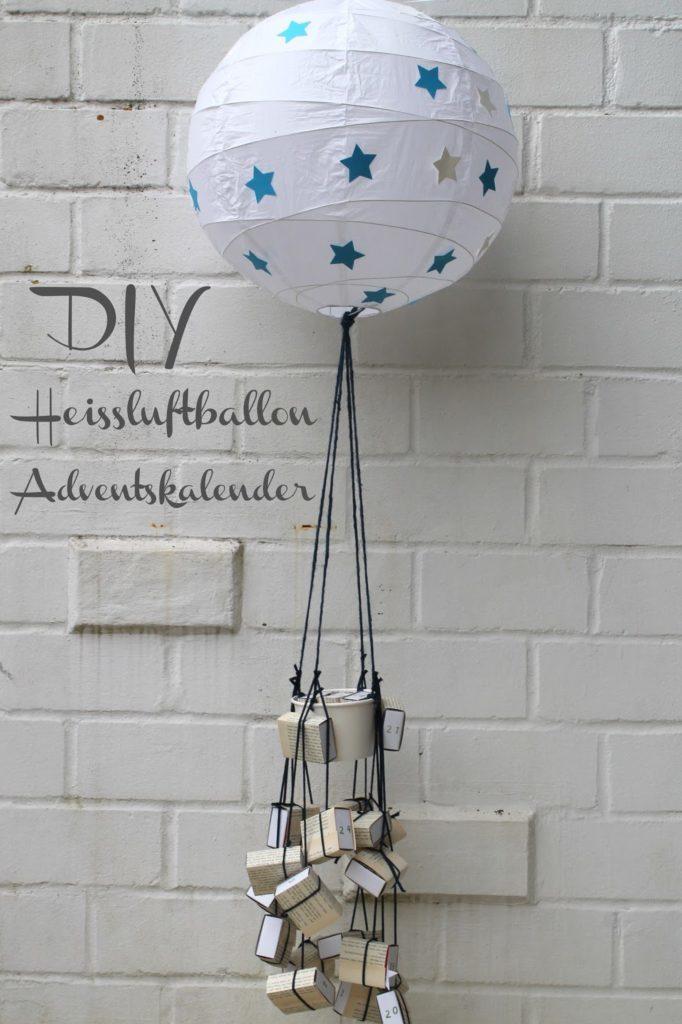 DIY Adventskalender Heissluftballon