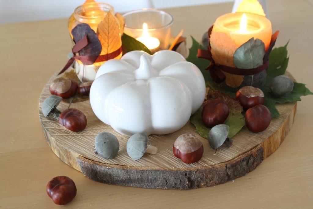 Upcycling Herbstdeko Pilze aus Beton
