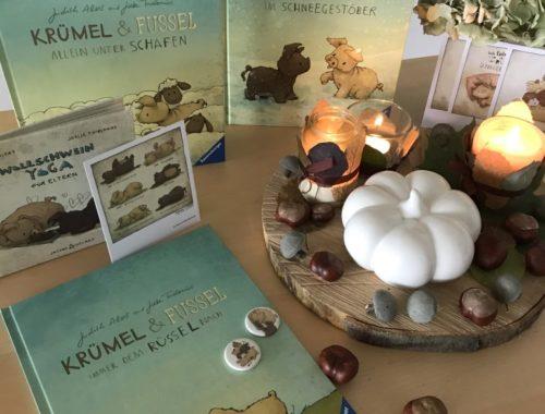 Krümel und FUssel Bücher Wollschweinekram