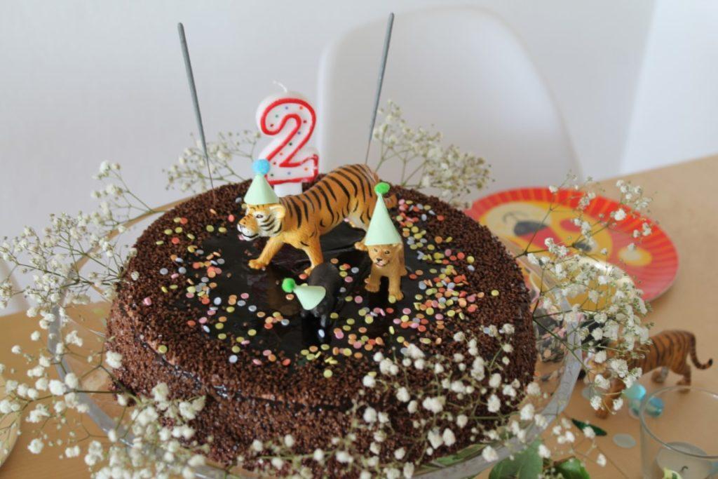 Geburtstagstorte wilde Tiere 2 Kindergeburtstag