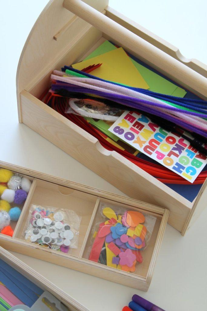 Inhalt Bastelkoffer Geschenkidee IKEA