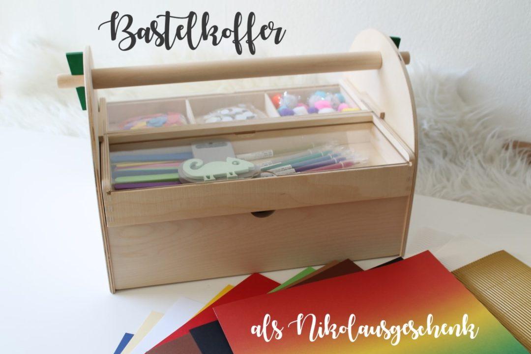 Geschenkidee Bastelkoffer zu Nikolaus Weihnachten Kinder