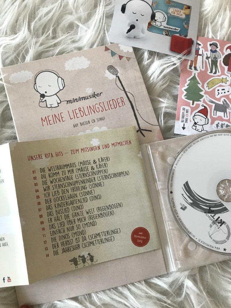 Unsere Minimusiker CD aus der Kita Titel