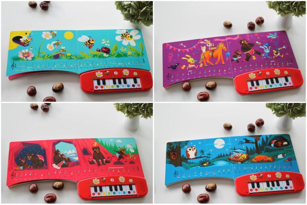 Klavierbuch Musikbuch Musikbuch mit Tasten Minimusiker
