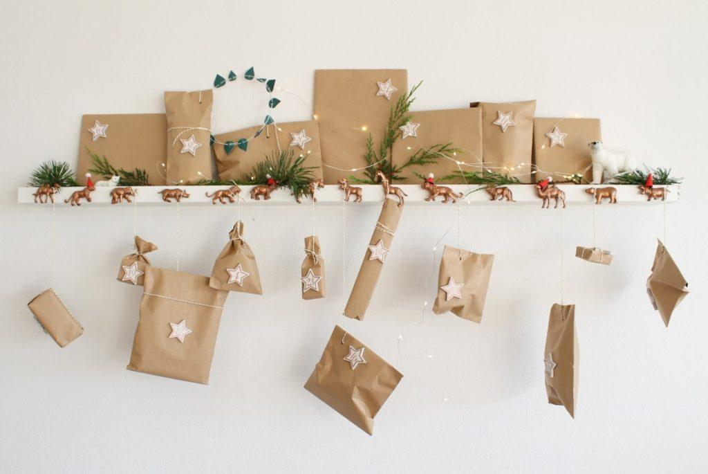 DIY Adventskalender weihnachtliche TIerkarawane