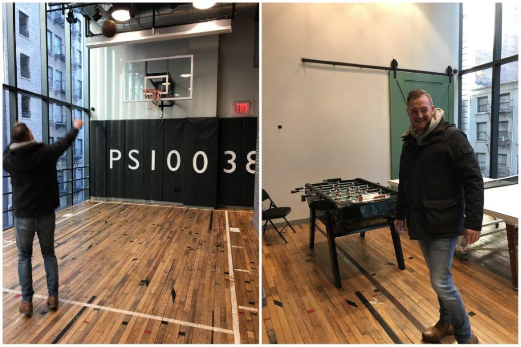 Basketball Court Moxy Hotel NYC
