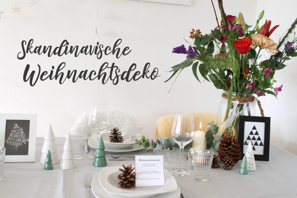 Skandinavische TIschdeko Blumen Weihnachten