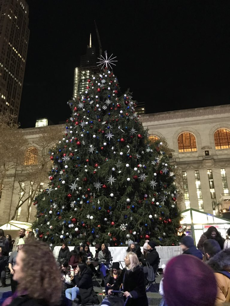 Bryant Park christmas market tree
