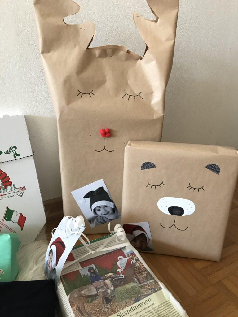 Packpapier TIere Geschenkverpackung