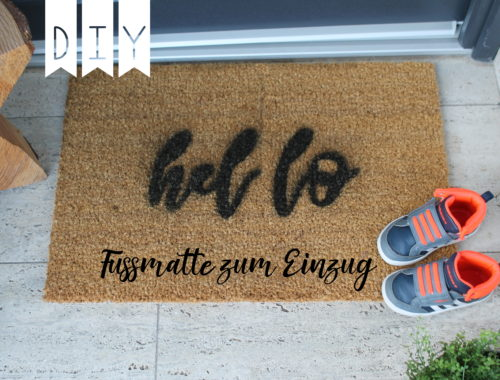 DIY Fußmatten Geschenkidee