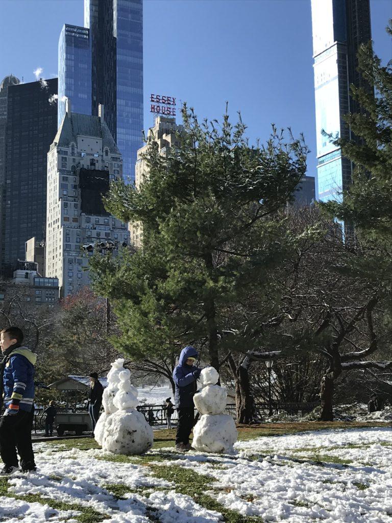 Snowmen Central Park Winter Wonderland