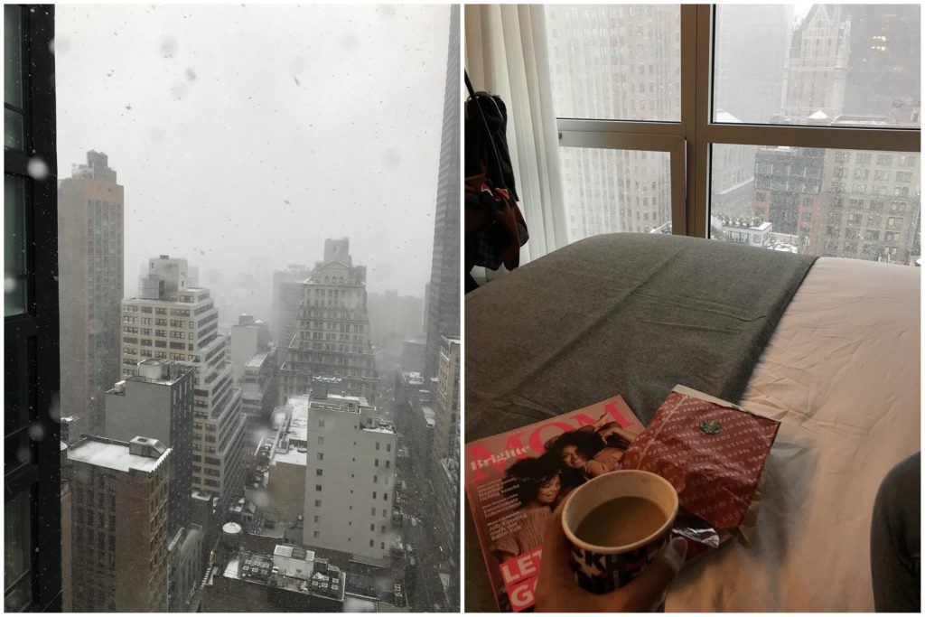 Hotel snowy Blizzard New York